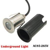 taille de la lumière encastrée achat en gros de-AC85-265V a enfoncé la lumière extérieure souterraine de yard de jardin de tache de la tache LED de jardin de la lampe 1W 3W LED 41 * 73mm