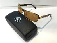 Wholesale Car Sunglasses Case - G-WA-Z07 Luxury Car Brand Maybach Sunglasses 18K Gold Plated Sunglasses Pilot Frame Spring Temples Men Brand Designer Sunglasses With Case