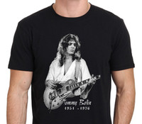 Wholesale Mens Discount White Shirts - Discount 100% Cotton T Shirts Short Sleeve Gift O-Neck Mens Tommy Bolin Guitarist Legend Shirts