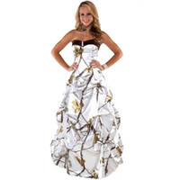 Wholesale Prom Camouflage Dresses - lovelydress888 realtree formal snow white camo prom dress 2017 long robe longue women maxi camouflage party gowns