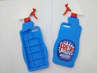 Wholesale Couture Wholesale Fashion - Blue Fresh Couture Fragrance Cleaning Spray Bottle Cover Soft Silicone Case For Iphone 7 7+ 7P 5 5S 6 6S 4.7 Plus 5.5 I5 Rubber Fashion Skin