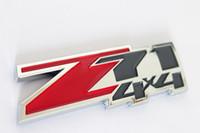 Wholesale Chevrolet Emblems Badges - 1Pc Z71 4x4 Emblem Badge Decal Sticker FIT For G-MC Chevy Silverado Cruze Sierra Tahoe Suburban