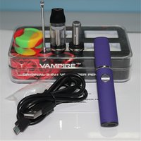 Wholesale Elips Dhl - 3 in 1 Kit wax Vaporizer Pen for Dry Herb Herbal WAX Oil Electronic Cigarette E-Cigarette E Cig 350mAh VS Elips Cloud wax pen DHL