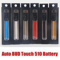 Wholesale Usb Slim - slim e cigarette battery vape batteries 510 buttonless battery bud touch pen 280mah vaporizer for CE3 cartridges With Mini USB Charger