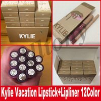 Wholesale Professional Lipsticks Lip Gloss - Kylie june bug Lipsticks take me your vacation Cosmetics Lipstick Makeup Lip Gloss Professional Lip Stick Kit