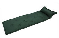 Wholesale Inflatable Air Camping Mat - Wholesale- Wholesale 180x57x2.5cm Camping Mat Automatic Inflatable Mat Waterproof Dampproof Sleeping Pad Tent Air Mat Mattress with Pillow