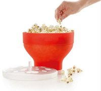 Wholesale High quality g DlY Collapsible Silicone Microwave Hot Air Popcorn Popper Bowl folding Silicone Popcorn maker