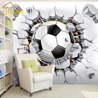 Wholesale Sports Backdrops - Wholesale- 3D Soccer Wallpaper Sport Background Mural Living Room Sofa Bedroom Football TV Backdrop Custom Any Size Wall Mural Wallpaper