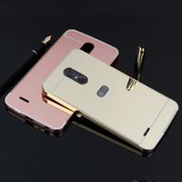 Wholesale Aluminum Case Stylus - For LG Stylus 3   LG Stylo 3 Luxury Mirror Metal Aluminum Frame +Hard acrylic PC Back Cover Case