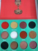 Wholesale Professional Women Fashion - High quality! Professional makeup 12 Color Fashion Women SAHARAN  Nubian 2 Yellow Eye Shadow Palette Makeup Matte Eyeshadow Palette
