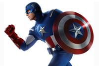 Wholesale Skateboard 12 Wheels - 2017 New Fidget Toy Hand Spinner Metal Finger Stress Spinner Captain America Shield Gyro Anti Stress Wheel Toys Stres Spiner DHL free