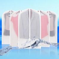 bez giyim çantaları toptan satış-Bez Toz Geçirmez Kapak Konfeksiyon Organizatör Takım Elbise Ceket Elbise Koruyucu Kılıfı Seyahat Saklama Çantası Fermuar Ile CCA6430 60 adet