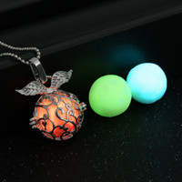 Wholesale Vintage Colorful Earrings - (1 necklace+3 Luminous Beads) vintage glow in dark colorful charms necklaces for women fashion glowing necklace pendants