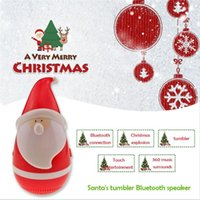 Wholesale F Audio - Mini Tumbler Santa Claus Bluetooth Speaker Wireless Smart Bluetooth Bass Music Audio Speaker Best Christmas Gift c193