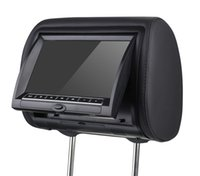 Wholesale Tv Headrest Dvd Monitors - 9'' Car DVD Pillow Headrest Monitor With Remote Controller Support DVD CD Player