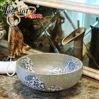 Wholesale Round Bathroom Ceramic Counter Top Wash Basin Cloakroom paopaomi cm small wash basin