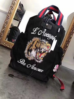 Wholesale Traveling Backpacks - Fashion tiger head Embroidery backpack Leisure computer bags traveling bags Shoulder Bags Men's backpack women backpack