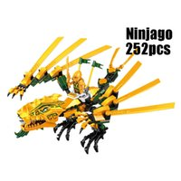 Wholesale Building Blocks Ninjago - WAZ Compatible Legoe Ninjagoes 70503 LELE 79112 252pcs blocks Ninjago Figure The Golden Dragon toys for children building blocks