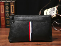 Wholesale large wallet organizer - Men Bag Split Leather Business Clutch Bags Zipper Large Capacity Male Handbag Pack Vintage Card Holders Multifunctional Storage Bags BA248