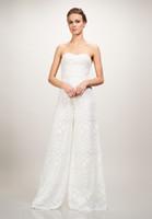 Wholesale Wedding Lace Motifs - motif jumpsuit lace beach wedding dresses 2018 strapless sweetheart neckline floor length sheatch bridal wedding gowns