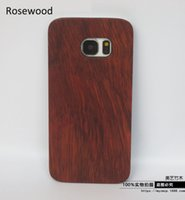 Wholesale Housings Cell - 2016 Wholesale Mobile Phone Case For Samsung Galaxy S6 S7 edge Cases Wood PC Cover For Samsung S5 S6edge Cell phone Bamboo Housing