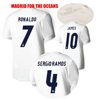 Wholesale Dip Dyed Shorts - 2017 White Real Madrid Soccer Jerseys For The Oceans Madrid Jerseys 16 17 Bale James Kroos Sergio Ramos Dip-Dye Jersey Football Shirt
