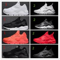 Wholesale Men Shoes Sports Sneakers - 2017 Air Huarache Classical Triple White Black red gold men women Huarache Shoes Huaraches sports Sneakers Running Shoes size 36-45