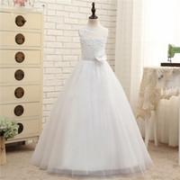 Wholesale Christmas Balls Buy - High Buy 2017 New Hot White Ball Gown Flower Girl Dresses First Communion Dresses For Girls vestidos de comunion Princess Dress