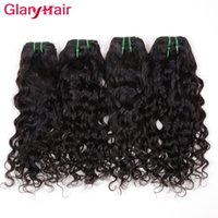 Wholesale Glary Brazilian Virgin Human Hair Weave Bundles Natural Water Wave Brazillian Virgin Hair Weave Wet Wavy Brazilian Hair Extensions