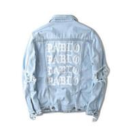 Wholesale Military Feel - palace I Feel Like Pablo Costume Denim Jacket Yeezus Season 3 Kanye West Pablo Jacket Jeans Coat Hip Hop Paul Military Sudaderas Mujer