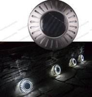 Wholesale Ufo Solar - 2017 hot Waterproof Outdoor Solar LED Underground Lights Solar Lawn wall Lamp UFO Lighting Security Light For Garden Decoration 6 Colors MYY