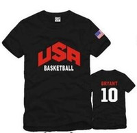 Wholesale Usa Sports Clothing - Free shipping Children tshirts USA Basketball Team clothes sports T shirt american team basketball short sleeve t shirts 6 Color 100% cotton