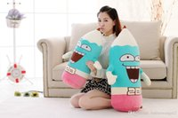 Wholesale Plush Couple Doll - One Piece Creative 2B Funny Pencil Doll Large Soft PP Cotton Plush Toys Sleeping Cushion Couples Holiday Gift 2 Expression