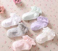 Wholesale Toddler Girls Lace Socks - Girls lace sock hot sell children socks baby girls cotton lace socks Hollow Sock toddler kids soft socks children Stockings Kid Gift A0357