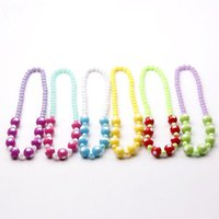 Wholesale Children Garment Wholesale Korea - The new foreign trade wholesale 2017 han edition of candy color wave necklace in children South Korea beaded garment accessories