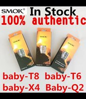 Wholesale V8 Price - 100% Original Smok TFV8 Baby Coil Head V8-T8 T6 X4 Q2 M2 Core Replacment Coil For TFV8 BABY Beast Tank Best Price