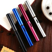 Wholesale Pen Nib F - Fashion Hot Lamy AI-star F Nib Fountain Pen 0.5mm Metal Ink Pens Stationery 6 Colors To Choose School And Office Supplies