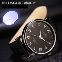 Wholesale Wholesale Super Luxury Watches - Wholesale-Top Brand Luxury Fashion Mens Watches Faux Leather Band Mens Quartz relogio masculino Analog Watches Super Quality Best