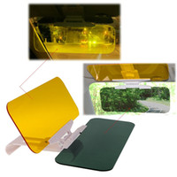 block shielding - 2 in Car Automobile Sun Anti UV Block Visor Day and Night Non Glare Anti Dazzle Sunshade Mirror Driver Goggles Shield