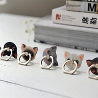 Wholesale Cute Android - Phone Kickstand Holder Universal 360 Degree Rotating Anti Drop Ring Stand Cute Cat Kitty Lovely for iPhone iPad Android Samsung Nokia LG HTC