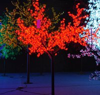 Wholesale Led Artificial Tree Wholesale - 1.5m 5ft Height Outdoor Artificial Christmas Tree LED Cherry Blossom Tree Light 480pcs LEDs Straight Tree Trunk Fast Shipping LED Light Tree