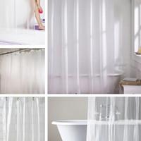 Wholesale  Clear Bathroom Shower Curtain 178x180cm Mouldproof PEVA  Waterproof Mildew Resistant Odorless Bathroom Product