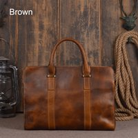 Handmade Mens Genuine Leather Classic Legumes Tanned Leather Briefcase Business Bag Bakpack Messenger Bag