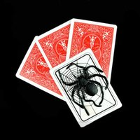 Wholesale Net Prop - 2pcd lot Spider and net magic tricks card magic props Mentalism,close up,stage,Accessories 81174