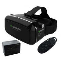 Original VR Shinecon Pro Brille Virtual Reality Mobile VR 3D Brille Headset BOX Karton Helm für 4-6 'Smartphone + Steuerung