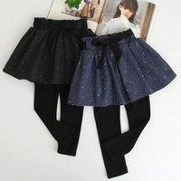Wholesale 4t Pencil Skirts - 2017 New Stylish Girls Patchwork Skirt Pants Autumn Winter Good Quality Cotton Fashion Girls Leggings Z415