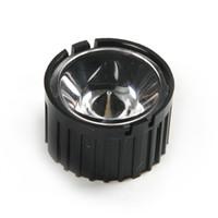 Wholesale Power Led Lens - Wholesale- 1pcs 20mm LED Lens With Black or White Holder For 1W 3W High Power LED Lamp Light