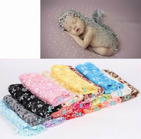 Wholesale Thin Summer Quilts - Newborn Props Baby Blanket Photo Props Lace Embroidery Photography Fashion Thin Quilt Photographic 17 Colors 7054