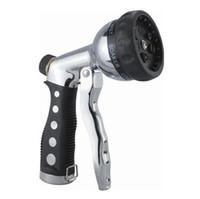 Wholesale Wholesale Garden Hose Fittings - 7 Function Spray Gun Garden Hose Sprayer Chrome Water Pipe Fitting Sprayer Nozzle Hand Sprayer LJJO2033