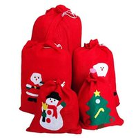 Wholesale Lovely Santa Claus - Christmas Gifts Bags Merry Christmas Santa Claus Lovely Candy Gift Bags for Christmas Decorations Party Favors CCA7016 300pcs